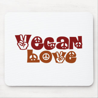 Amor del vegano tapetes de raton