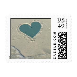 Amor del verano sello postal