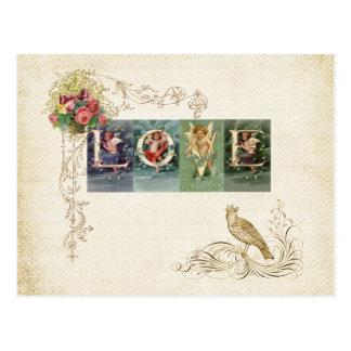 Amor del Victorian del vintage Postales