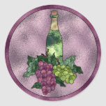 Amor del vino del vitral pegatina