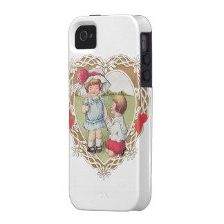 ¡Amor del vintage en un corazón! Case-Mate iPhone 4 Fundas