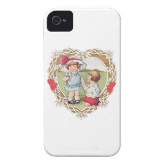 ¡Amor del vintage en un corazón! Case-Mate iPhone 4 Carcasas