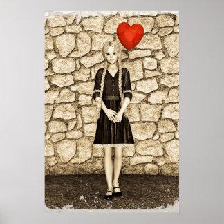 Amor del vintage póster