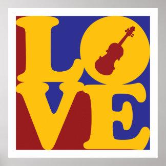Amor del violín póster