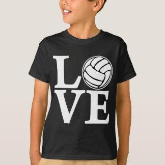 AMOR del voleibol, blanco Playera