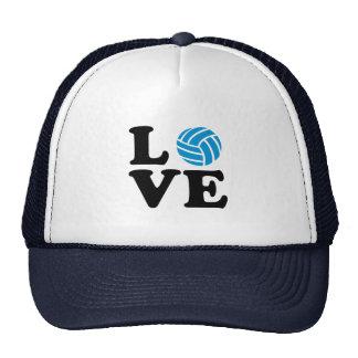 Amor del voleibol gorros bordados