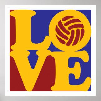 Amor del voleibol impresiones
