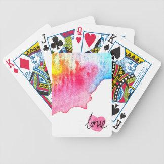 amor del watercolour baraja de cartas