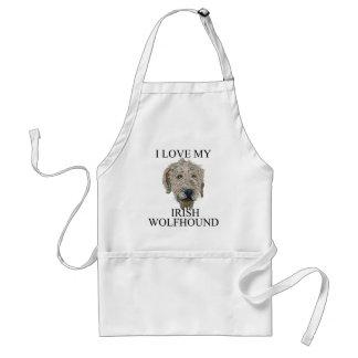 ¡Amor del Wolfhound irlandés! Delantal