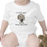 ¡Amor del Wolfhound irlandés! Traje De Bebé