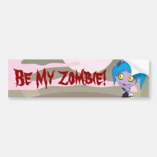 Amor del zombi pegatina de parachoque