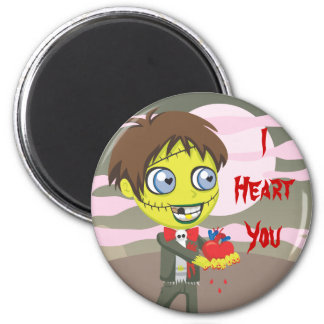 Amor del zombi imán redondo 5 cm