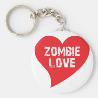 Amor del zombi llaveros personalizados
