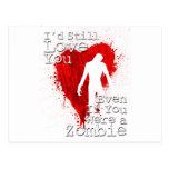 Amor del zombi postales