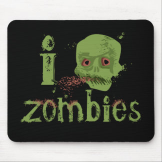 Amor del zombi alfombrilla de ratón