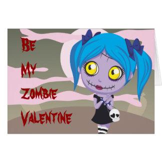 Amor del zombi tarjeta pequeña