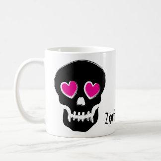 Amor del zombi taza básica blanca