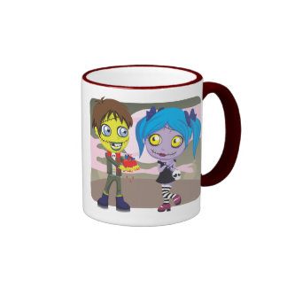 Amor del zombi taza de dos colores