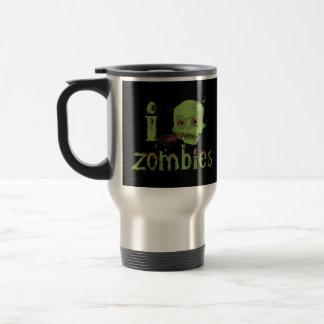 Amor del zombi taza de viaje