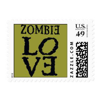 Amor del zombi usted sello postal