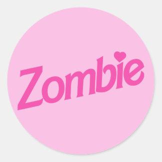 amor del zombi - zombis del amor de i pegatinas