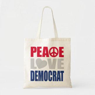 Amor Demócrata de la paz Bolsas