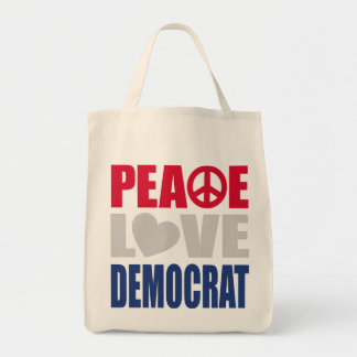 Amor Demócrata de la paz Bolsa Lienzo