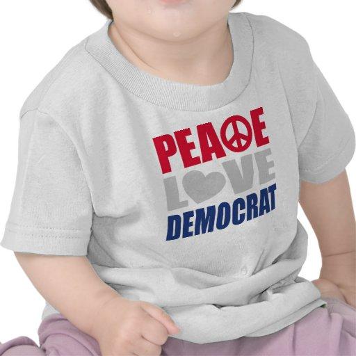 Amor Demócrata de la paz Camiseta
