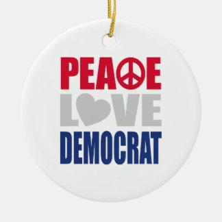 Amor Demócrata de la paz Adornos