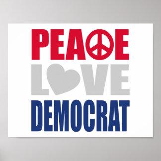 Amor Demócrata de la paz Posters