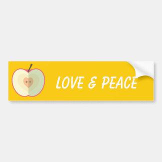 Amor dentro etiqueta de parachoque