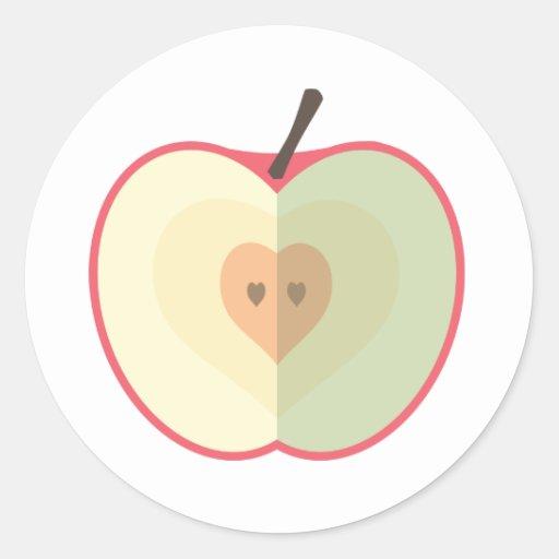 Amor dentro pegatina redonda
