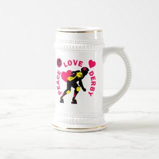 Amor Derby de la paz Jarra De Cerveza