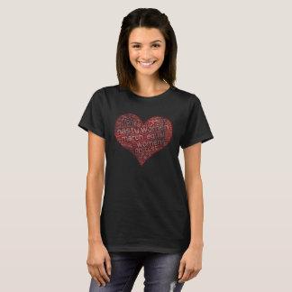 Amor desagradable del corazón de las mujeres playera