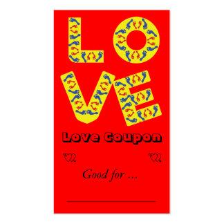 Amor descalzo plantillas de tarjeta de negocio
