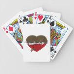 amor desempaquetado del corazón del chocolate uste cartas de juego