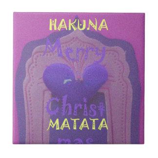 Amor Design.jpg de las Felices Navidad de Hakuna Azulejo Cuadrado Pequeño