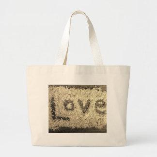 Amor destrozado del coco bolsas de mano