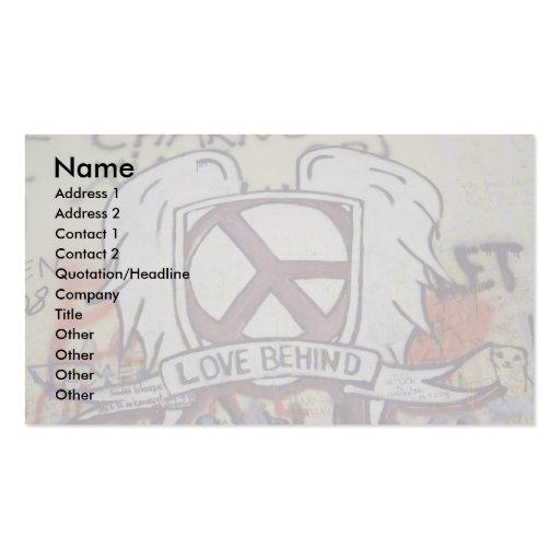 Amor detrás tarjetas de visita