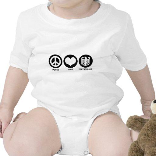 Amor Deutschland de la paz Trajes De Bebé