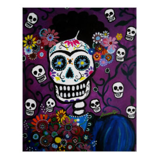 AMOR dia de los muertos Poster