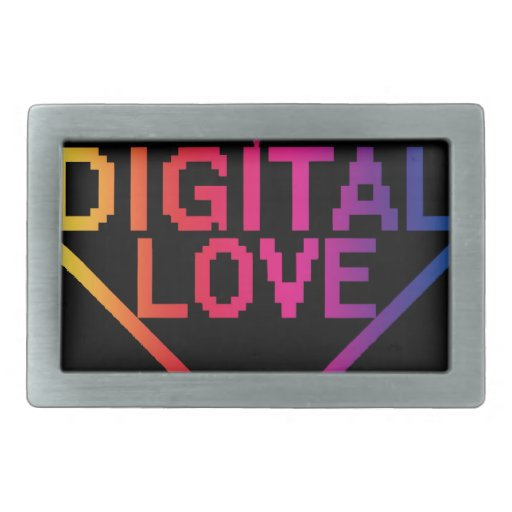 amor digital RBG Hebillas De Cinturón Rectangulares