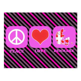 Amor Dinamarca de la paz Tarjetas Postales