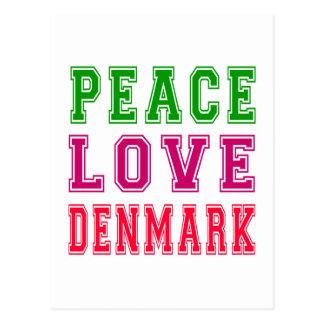 Amor Dinamarca de la paz Tarjeta Postal