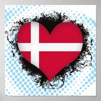 Amor Dinamarca del vintage I Impresiones