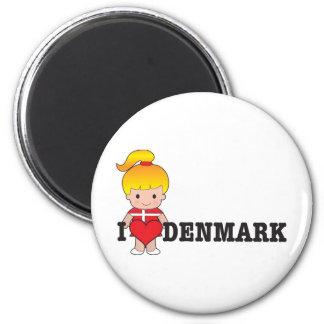 Amor Dinamarca Imán Redondo 5 Cm