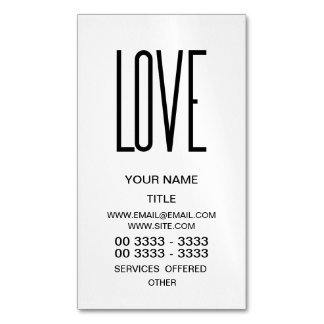 Amor - diseño minimalista tarjetas de visita magnéticas (paquete de 25)