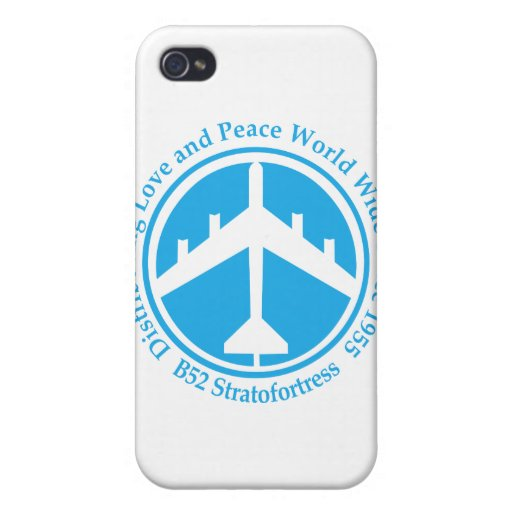 Amor distribiting .png azul claro de A098 B52 iPhone 4 Cárcasa