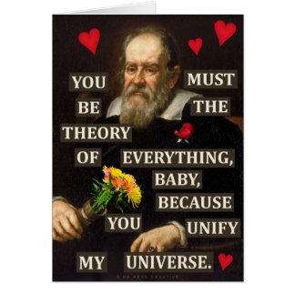 Amor divertido del friki de la física de Galileo Tarjeta De Felicitación