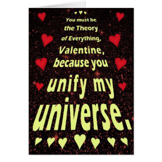 Amor divertido del friki del espacio exterior del tarjeta de felicitación